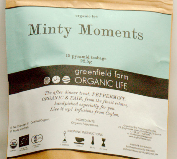 Minty moments, Infusion de menthe