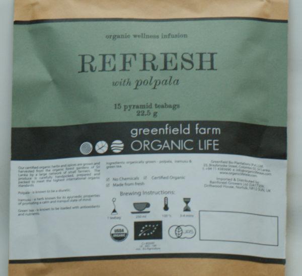 Rafraichissant, mélange avec thé vert, et plantes ayurvediques