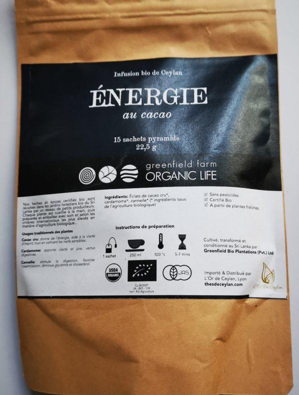 energie cacao cru
